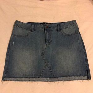 Hollister faded denim skirt