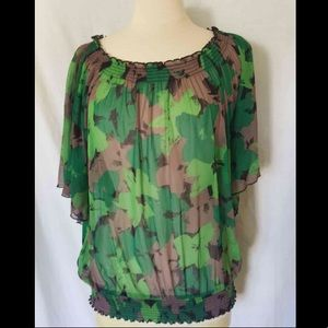 Inc Womens Sheer Shirt Sz XL