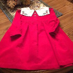 Bonnie Jean Girls Corduroy Christmas Dress