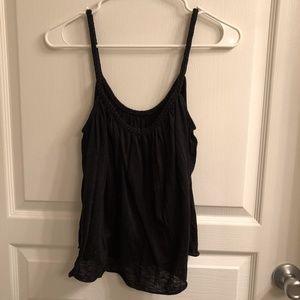 Black braided strap cami