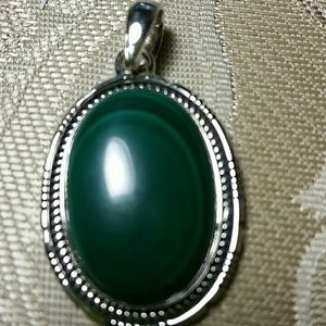 Jewelry - Artisan Malachite Sterling Pendant