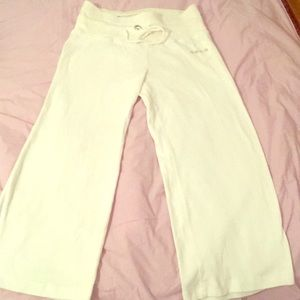 Bebe cropped sweat pants