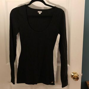 NWOT black and white long sleeve