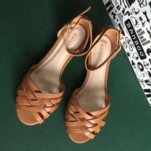Cognac Weave Sandals
