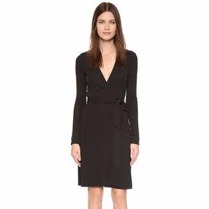 DVF Jeanne Two Classic Black Wrap Dress