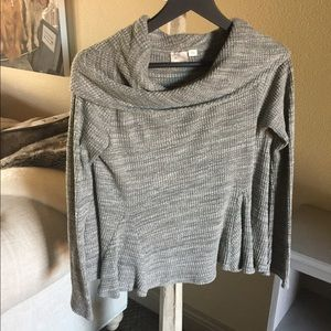 Anthropology Off the Shoulder Gray Top
