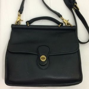 Authentic Vintage Black Coach Willis Purse