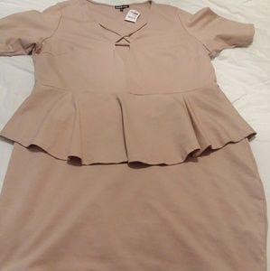 Plus Strappy Peplum Dress