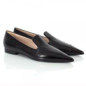 Lightly worn MIU MIU Black Flats leather loafers