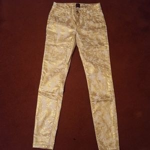 Shimmery Gold Pants