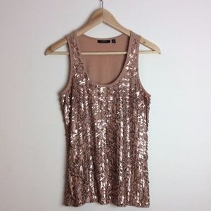 Apt. 9 Blush Sequin Sparkly Holiday Top Size Small