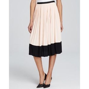 NWT Kate Spade Women's Pink Pleated Crepe Skirt