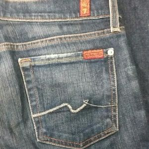 7 for All Mankind boot cut jeans sz, 28