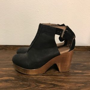 Free People strappy clogs