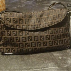 Fendi (Authentic)Zucchini  Pouchette Shoulder Bag