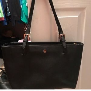 Tory Burch Black small tote great shape