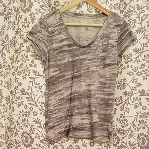 Style & Co Essential Tee (grey/black pattern)