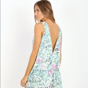 Lovers + Friends Low Back Babydoll Dress