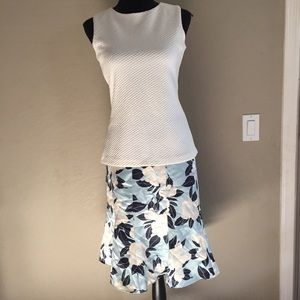 Banana Republic Blue Floral Skirt