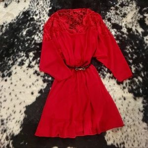 ASOS Red Lace Dress