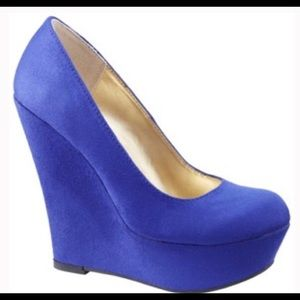 Royal Blue Mossimo Wedge