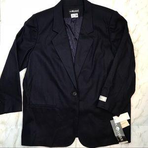 Sag Harbor NWT 100% Wool Navy Blazer