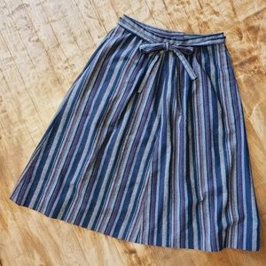 Vintage Striped Wool Skirt Sz 8-10 (S/M)