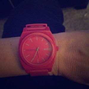 Nixon pink watch