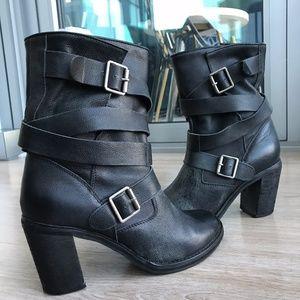 Jeffrey Campbell France Wrap Strap Boots (Black)