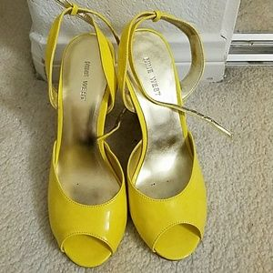 Yellow Nine West Wedges
