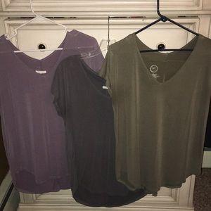 3 silk like tops