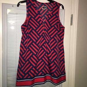 Navy/red blouse