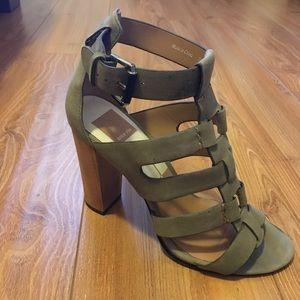 Dolce Vita Olive Green gladiator heeled sandals