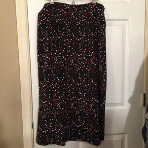 Black Flowery Skirt