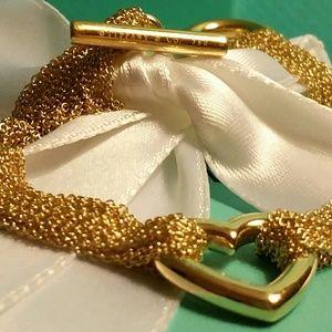 Tiffany & Co.18k Gold Heart Toggle Bracelet