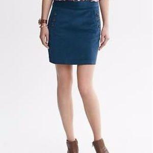 NWT! Banana Republic -Button Pocket Cord Skirt