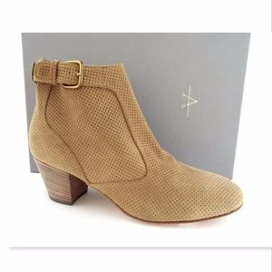 AQUATALIA Beige Suede Leather Ankle Boots 8