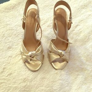 Holy Chic! Almost new gold sandals...