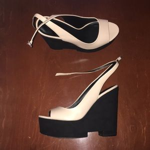 Zara Peep-toe Wedges