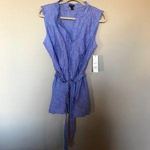 [Dana Buchman] NWT Blue Wrap Tank Top Size L