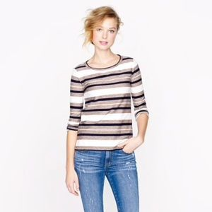 J. Crew reverse jacquard striped top