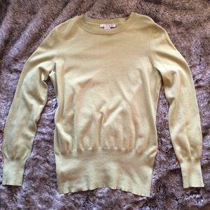 CAbi Light Pea Green Sweater