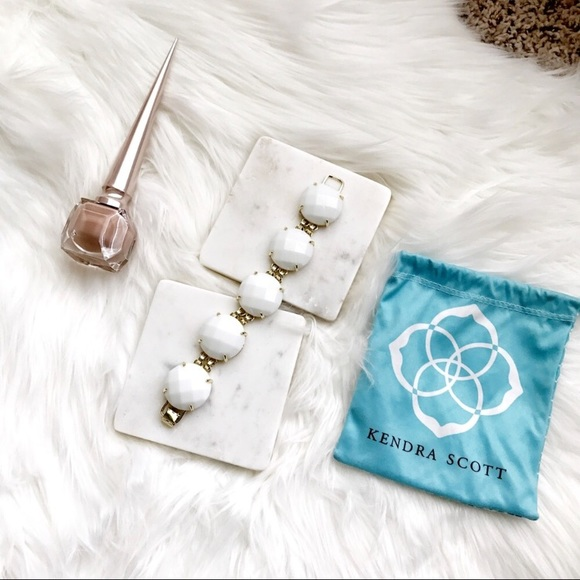 Kendra Scott Jewelry 24k Sale Euc White Cassie Bracelet
