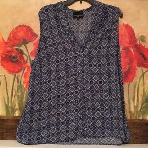 NWOT Cynthia Rowley blue sleeveless top size 1X