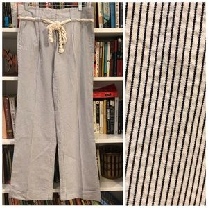 J. crew wide leg trousers with rope belt