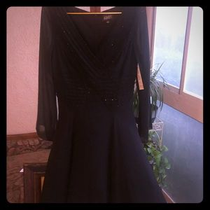Gorgeous Beaded Sheer Evening Dress NWT