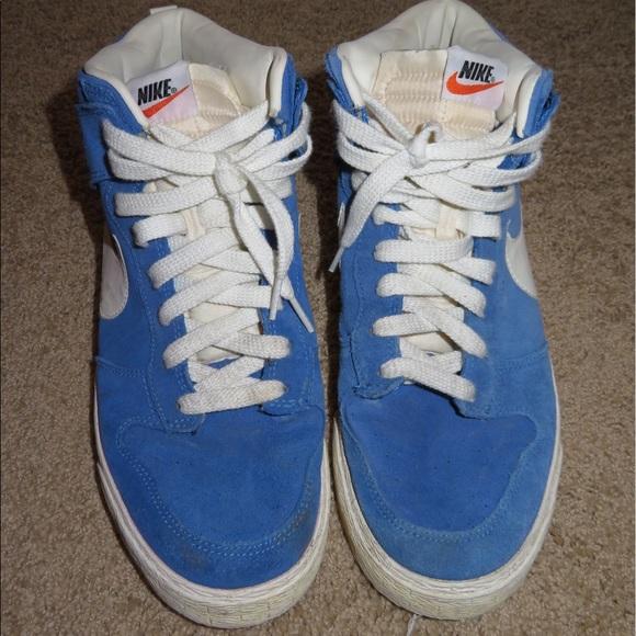 Nike Shoes   Mens Nike Blue Suede High