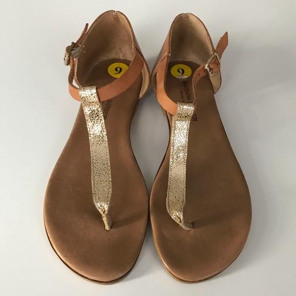 9983234e0dbbaf Barbara Barbieri Shoes - Barbara Barbieri Flat Leather Tan Gold Sandals