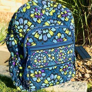 Vera Bradley Campus Tech Backpack Large Blue