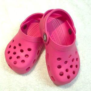 Like New Crocs baby girl size 4 - 5